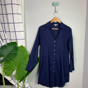 Eileen Fisher Front Button Blue Tunic